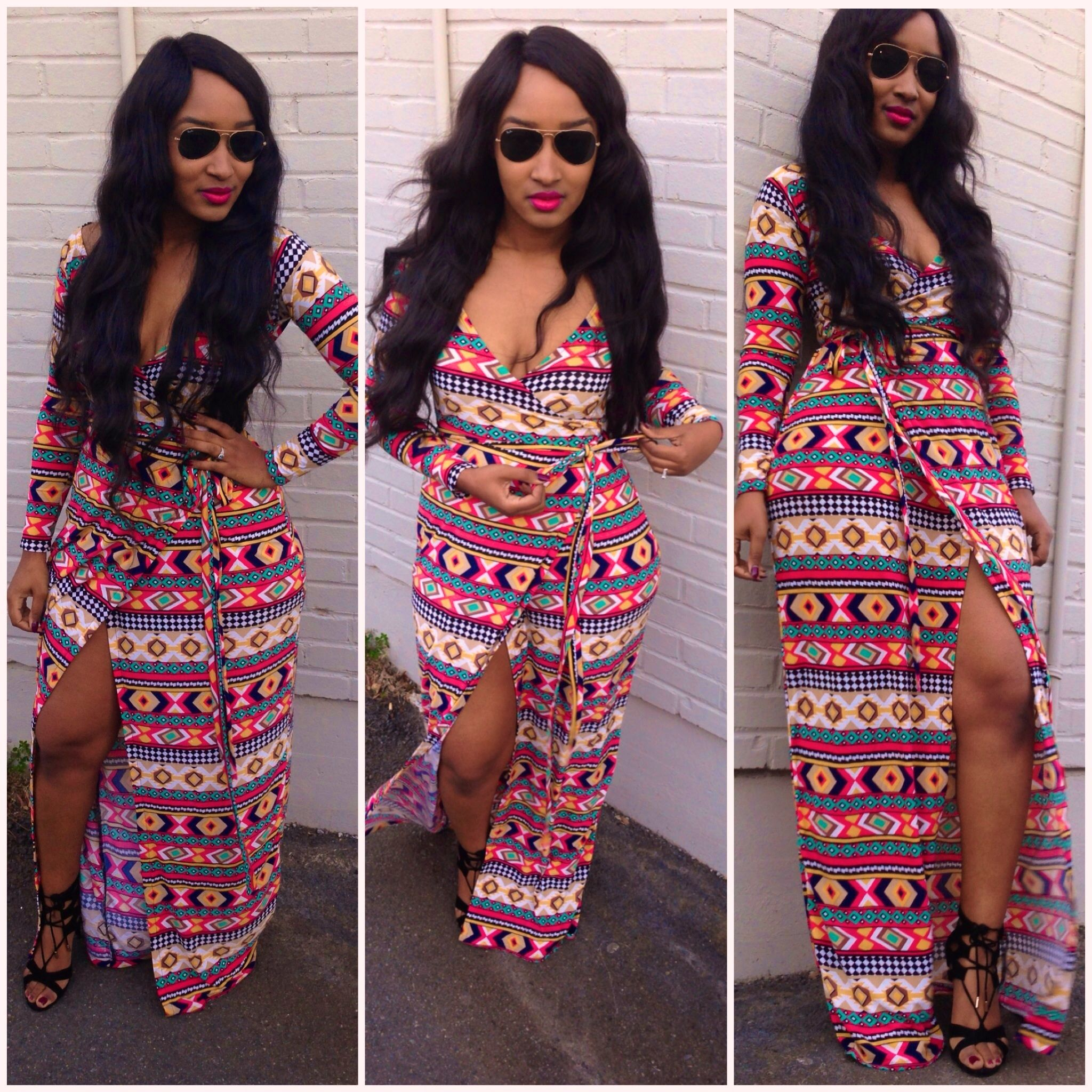 Had a lot of fun creating this maxi wrap dress of course i made a