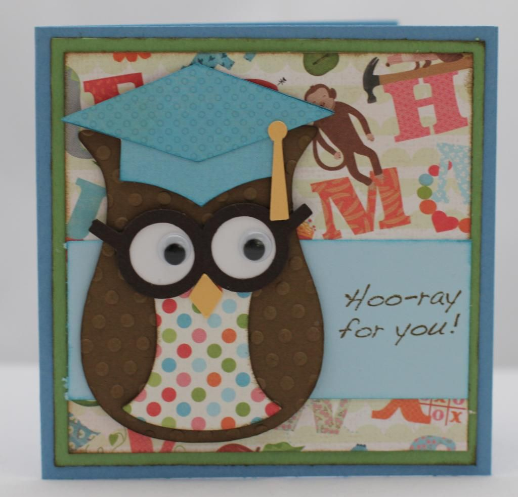 Card Making Ideas Owls Part - 49: Owl Graduation Card.