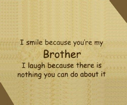 Pin By Dianna Fernandez On Mine Cute Brother Quotes