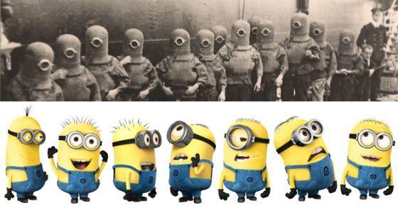 A foto que deu origem à teoria conspiratória sobre os minions. - Fornecido por El País