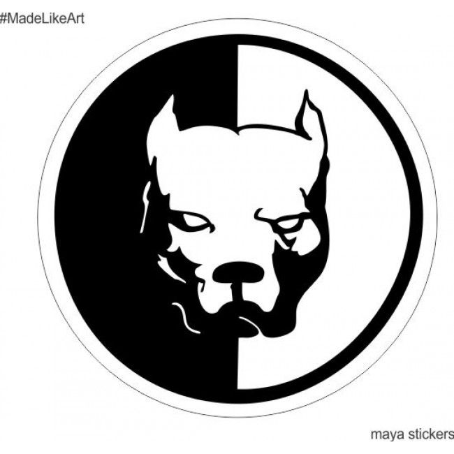 Pitbull Dog Logo Decal Sticker For Bikes Cars Laptop And Wall