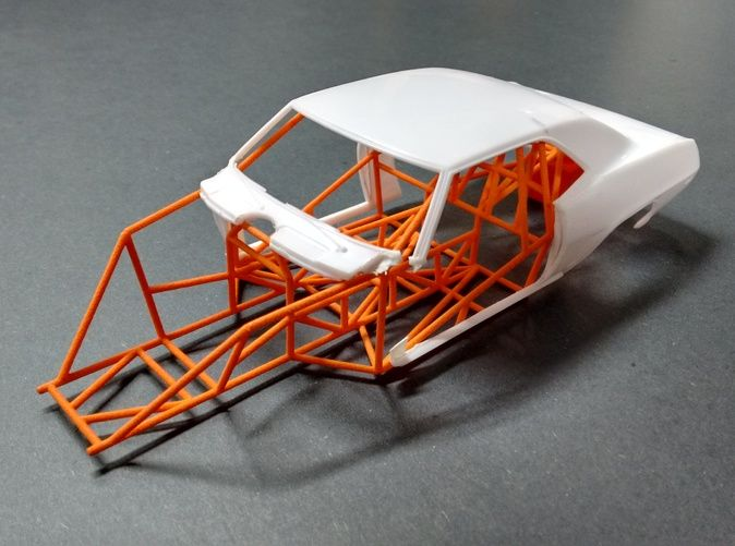 Camaro Pro Stock Chassis 1/24 Model Car  by MagRacer on Shapeways