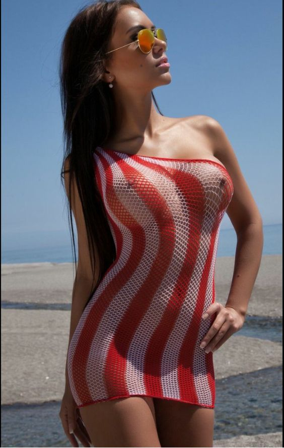 Sexy girls in see through clothes