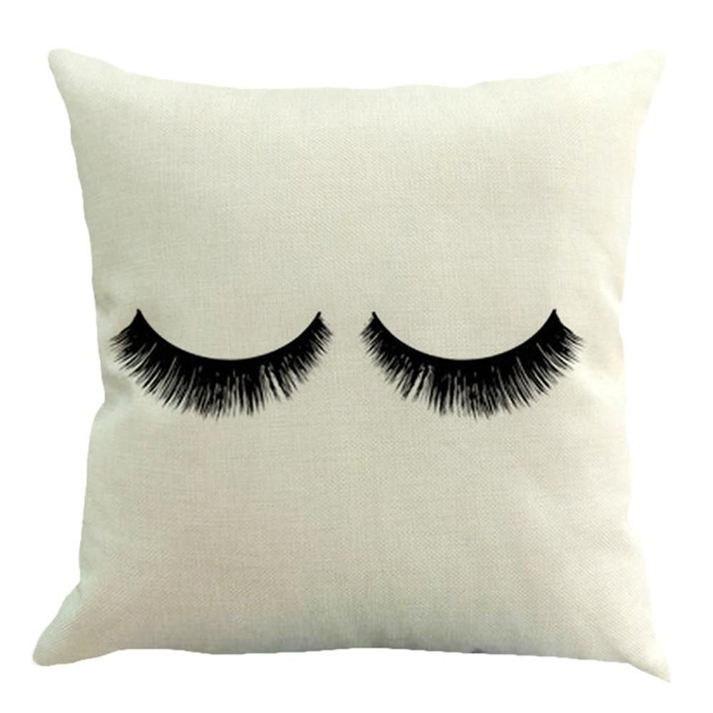 Eyelash Pillow Covers 5 Styles Throw Pillows Linen Throw Pillow Square Pillowcase