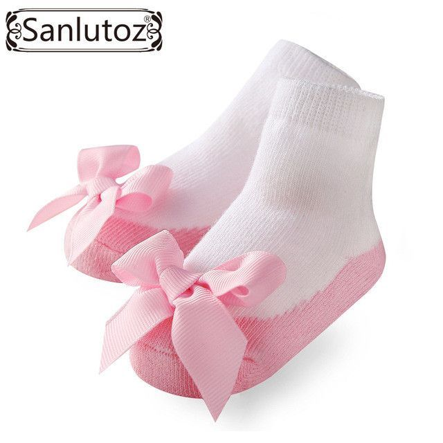 1 Pair of Sanlutoz Holiday Party Baby Socks With Bow