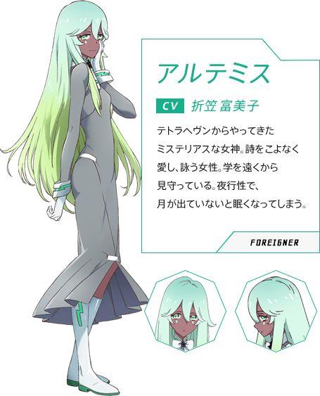 Artemis Luck Logic 1941569 Anime Anime Green Hair Black Anime Characters