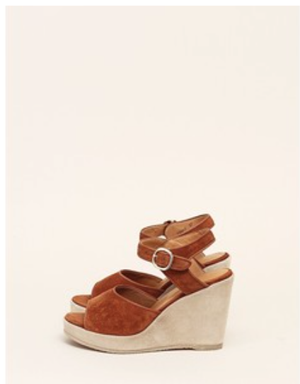A.P.C. suede wedges