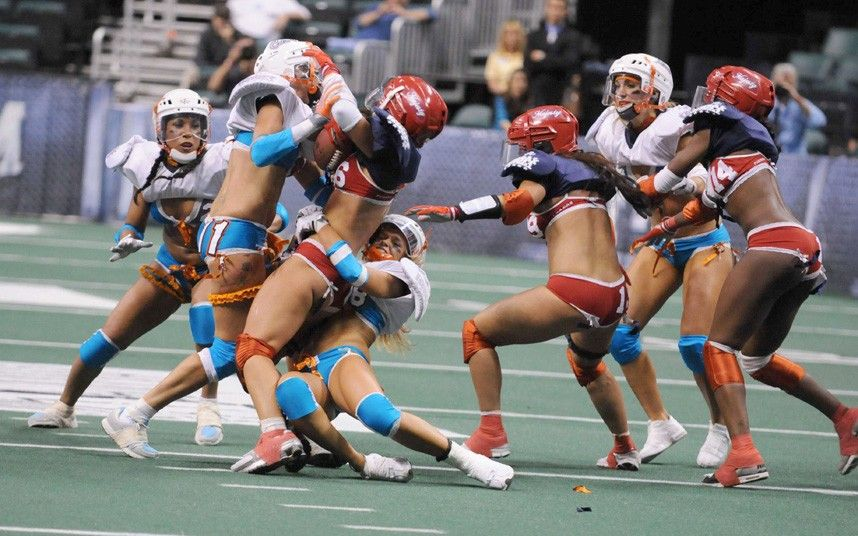 A game of lingerie football  Strange hobbies and sports