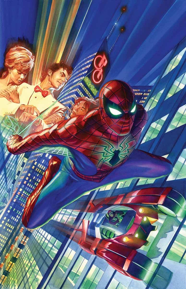 The Amazing Spider-Man # 1 (2015) cover by Alex Ross