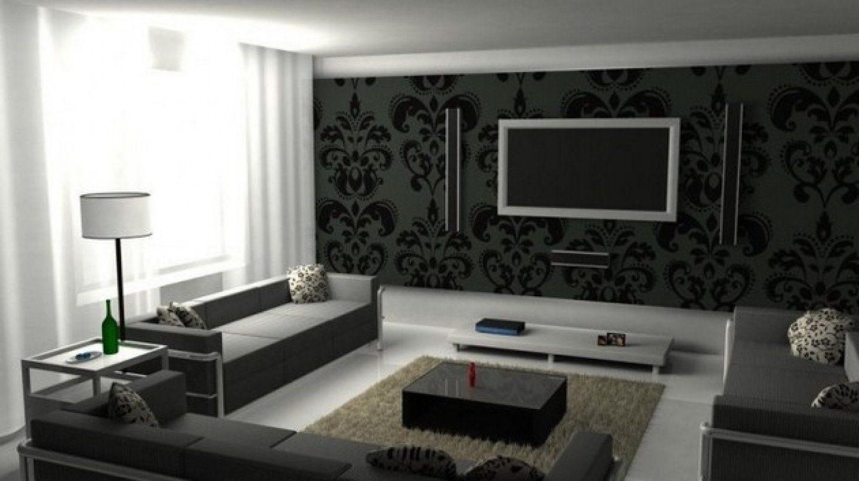 Modern Living Room Black And White Livingroom Living Room Awesome Black And White Roo In 2020 Black Wallpaper Living Room Black Living Room Black And White Living Room #silver #and #black #living #room #ideas