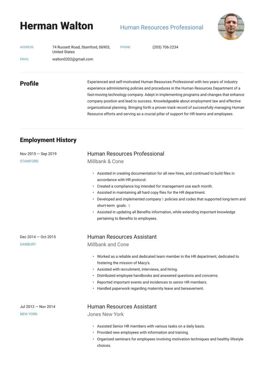 Build A Professional Website With Wordpress Com Resume Examples First Job Resume Job Resume Examples