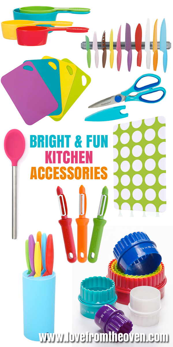 colorful kitchen accessories cabinet door replacement bright and fun