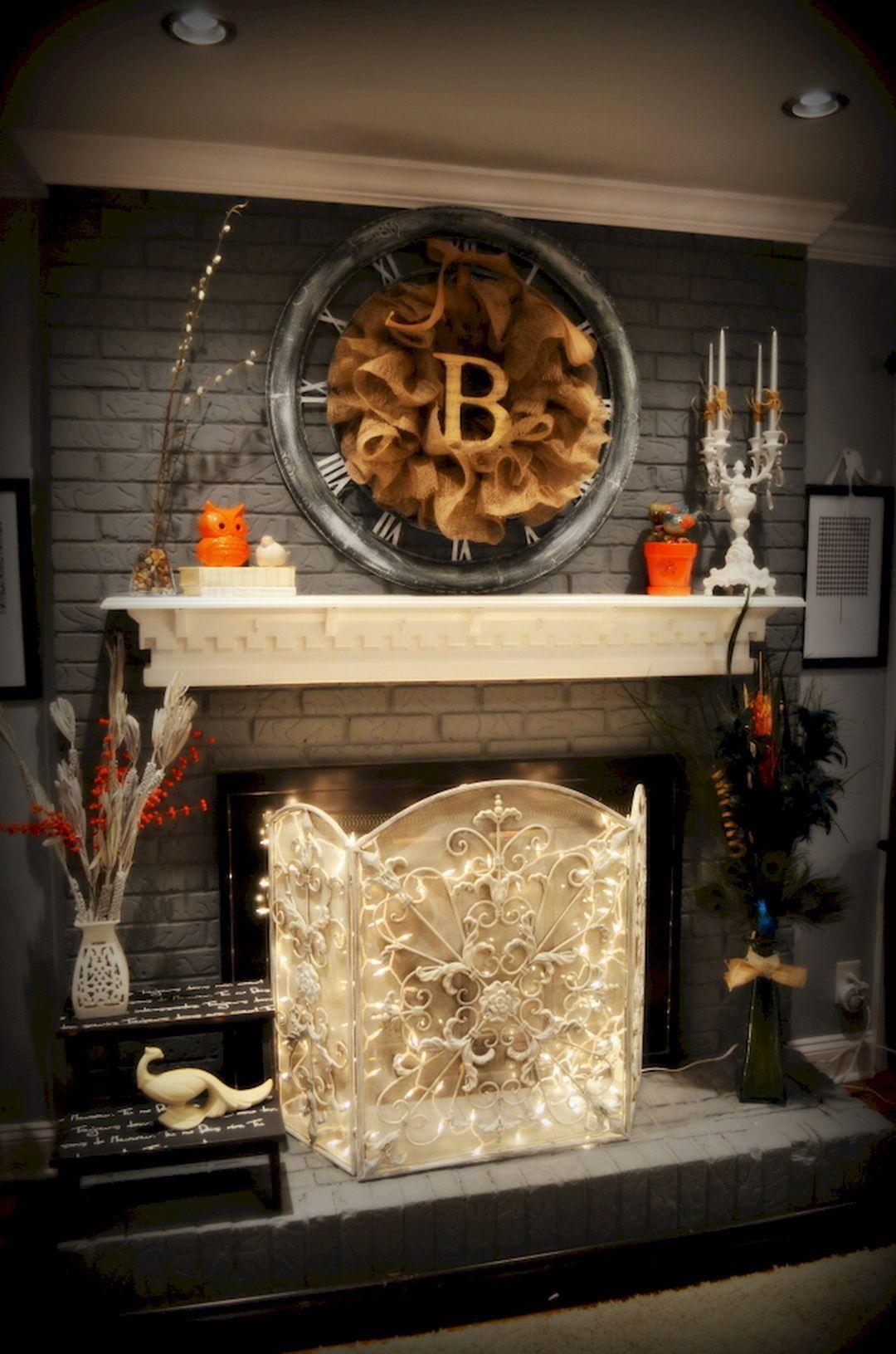 Black painted brick fireplace 24 moltoon painted brick