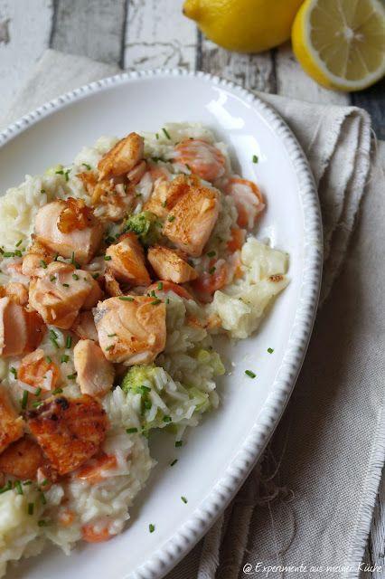 Lachs-Frikassee mit Reis Tasty - experimente aus meiner küche