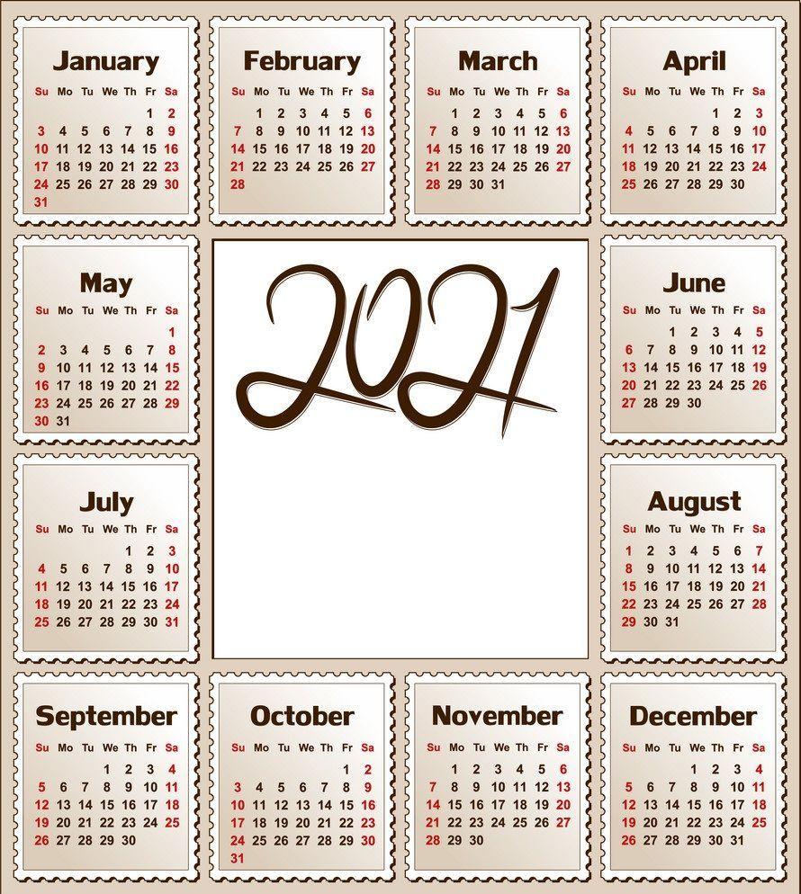 2021 Calendar Printable 12 Months All In One Calendar 2021 In 2020 Calendar Printables 2021 Calendar Calendar Template