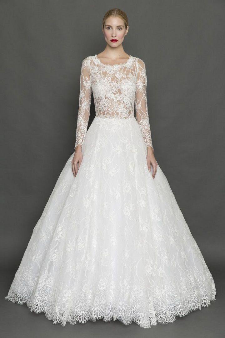 Francesca Miranda Long Sleeve Wedding Dress | itakeyou.co.uk #weddingdress #weddingdresses #longsleeve #bride #bridalgown #weddinggown #weddinggowns