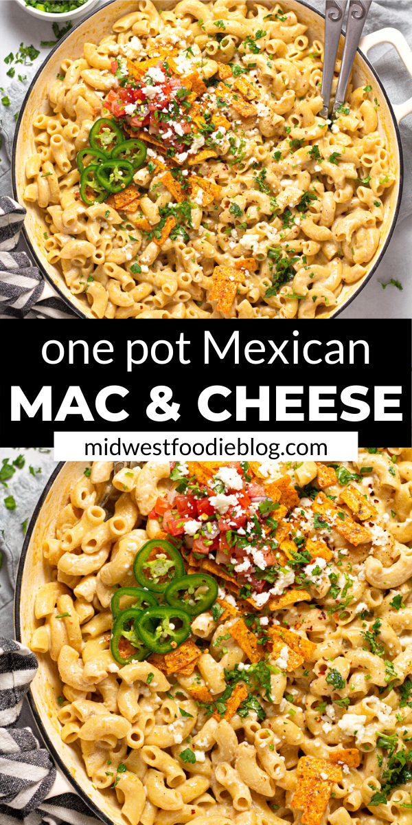 One Pot Mexican Mac and Cheese