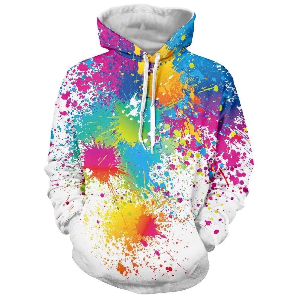 48+ Paint splash print hoodie ideas
