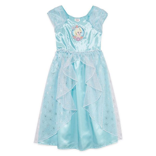 95267058db15 Disney Collection Cap-Sleeve Frozen Gown - JCPenney | Maisey | Girls ...