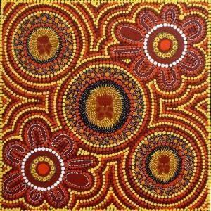 Australian Aboriginal Art Dot Paintings Symbols Aboriginal Artwork Drawings & Sculpture by pam