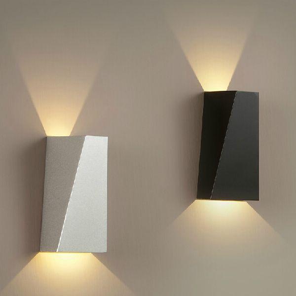 Led Wall Lights Indoor Brief Iron Fashion Geometry Shape Led Wall ...