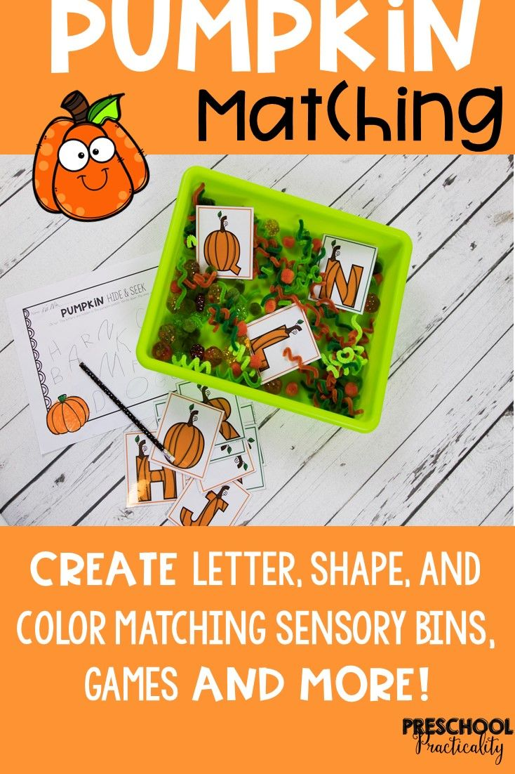Pumpkin Matching for Toddlers, Preschool, and PreK | Toddler ...