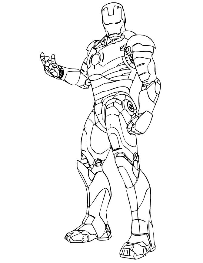 Wonderful Iron Man Coloring Pages For Kids Freecoloring Org