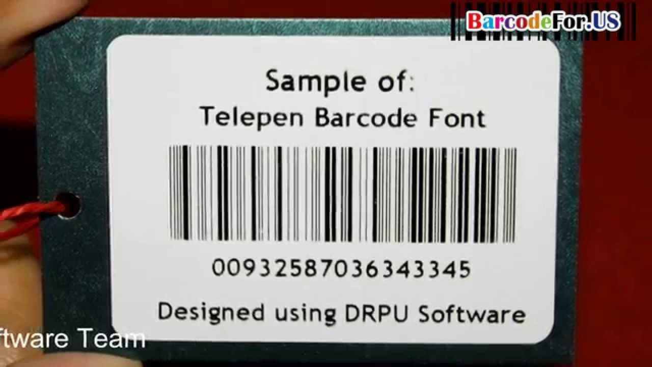 Design and print barcode label in linear and 2D fonts For