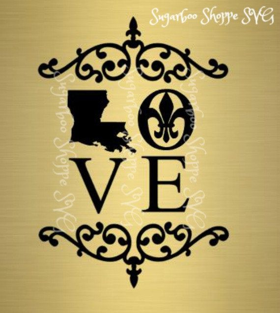 Louisiana LOVE Silhouette svg/ pdf printable by ...