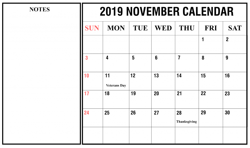 November Calendar 2019 November November2019 November2019calendar Calendar Printables Calendar 2019 Printable Calendar Template