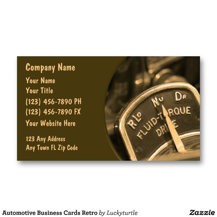 Automotive Business Cards Retro | Business cards, Retro and Business