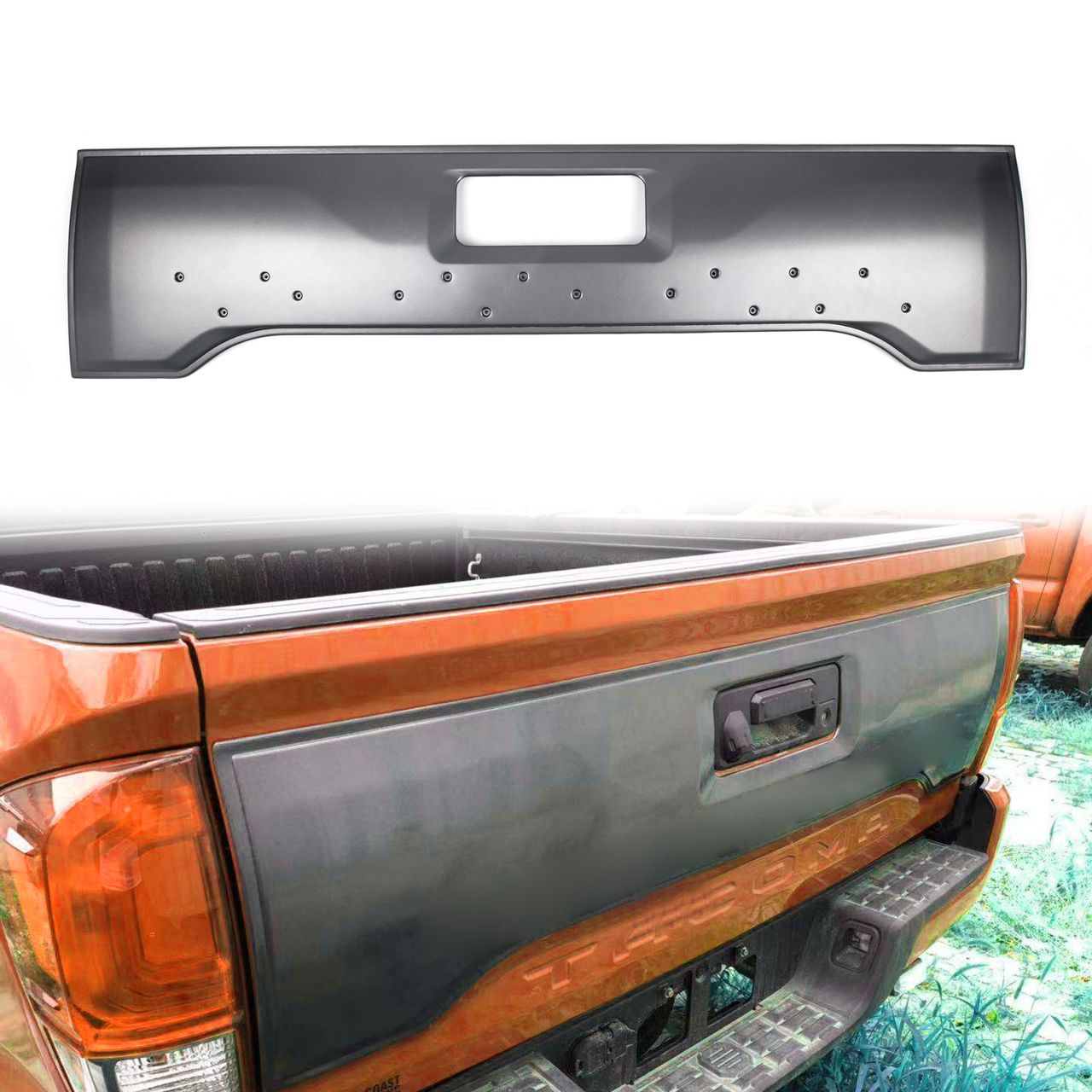Tailgate Applique Cover Rear Trim Panel with TRD Emblem