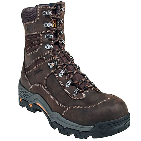 Ariat Boots Men's Brown Composite Toe Waterproof EH Workhog Boots ...