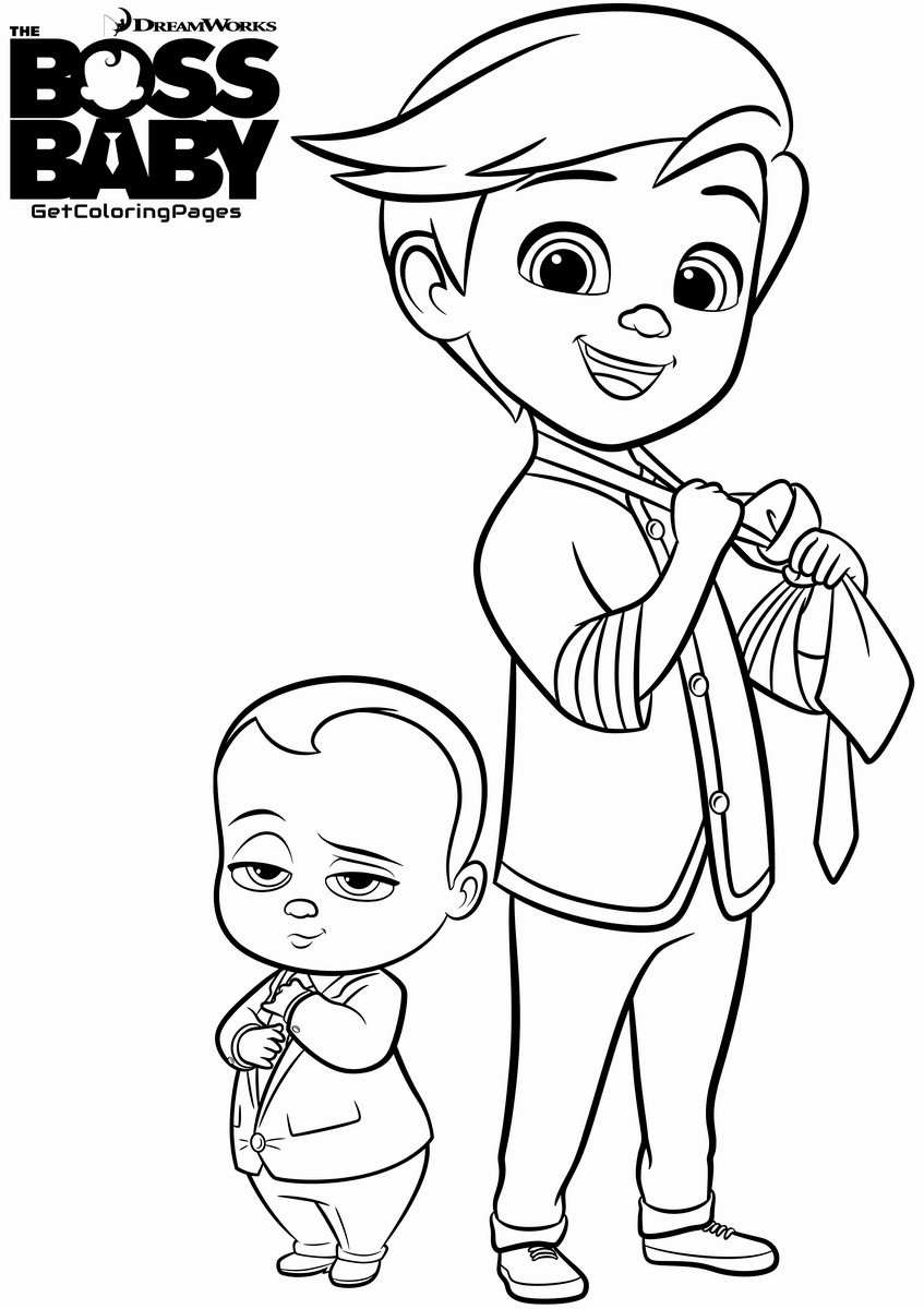 Top 10 The Boss Baby Coloring Pages