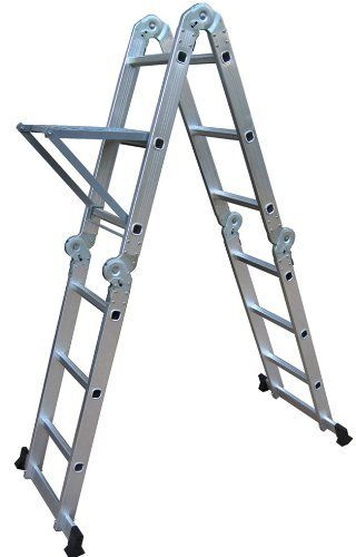 Neiko 01995 Folding Aluminum Ladder 125ft Extended 300 Lbs Capacity See This Great Product Multi Ladder Ladder Multi Purpose Ladder