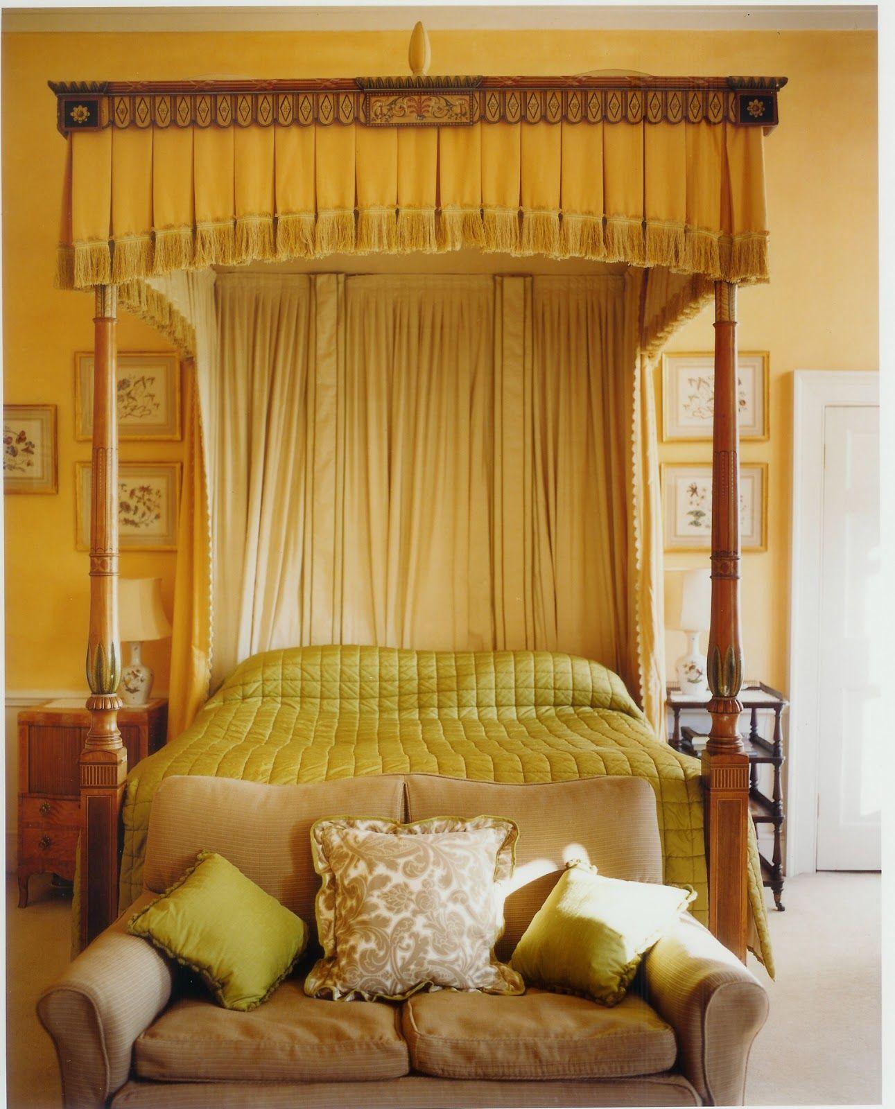 John Fowler Cornbury Park Oxfordshire Home, Yellow