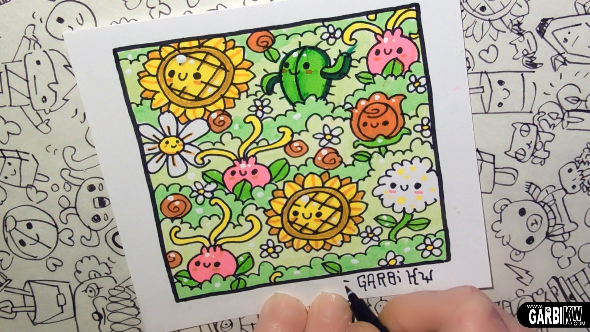 Kawaii Flowers By Garbi Kw How To Draw Patterns For Your Doodles