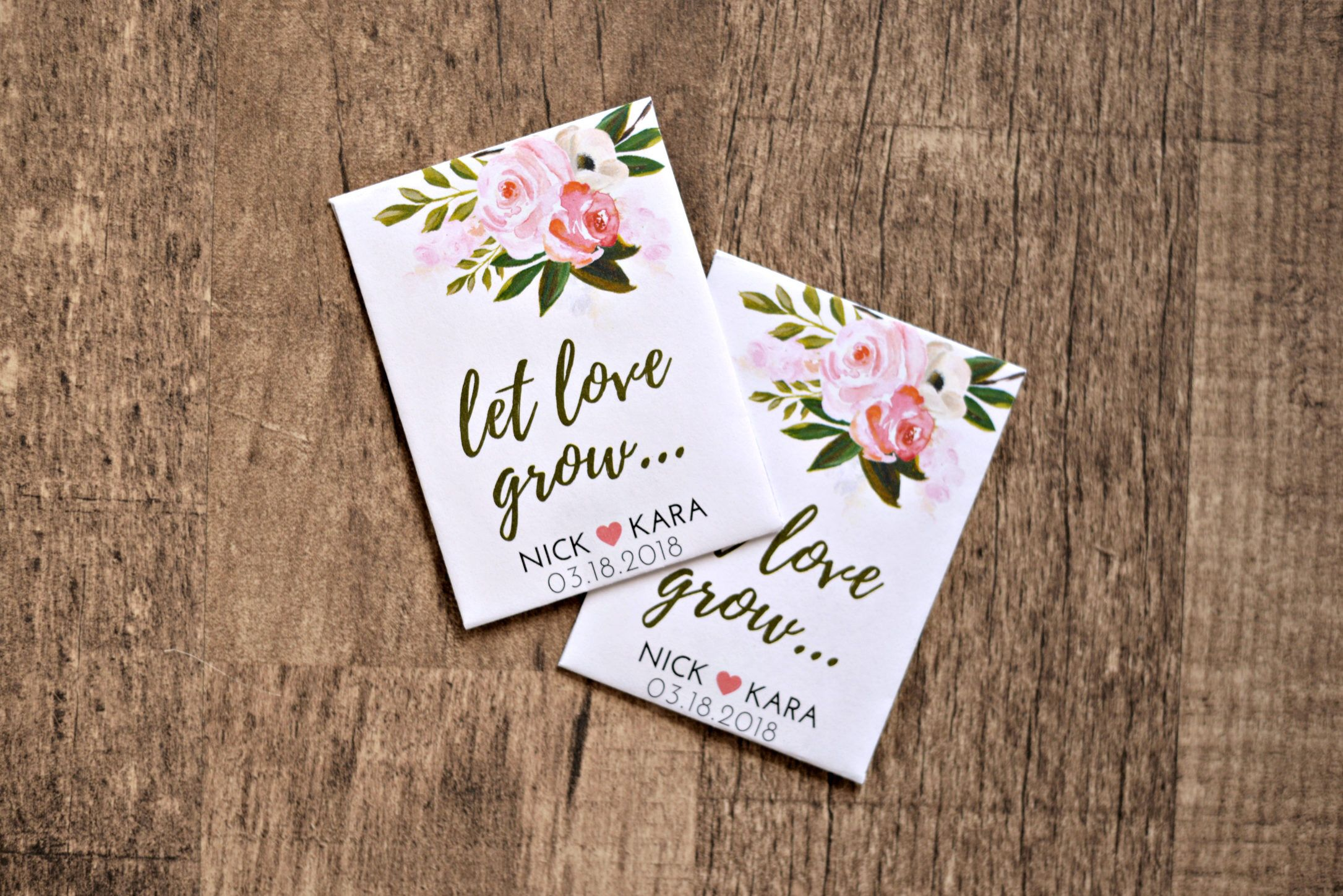 Custom Seed Wedding Favors 50 Count With Seeds Included Spring