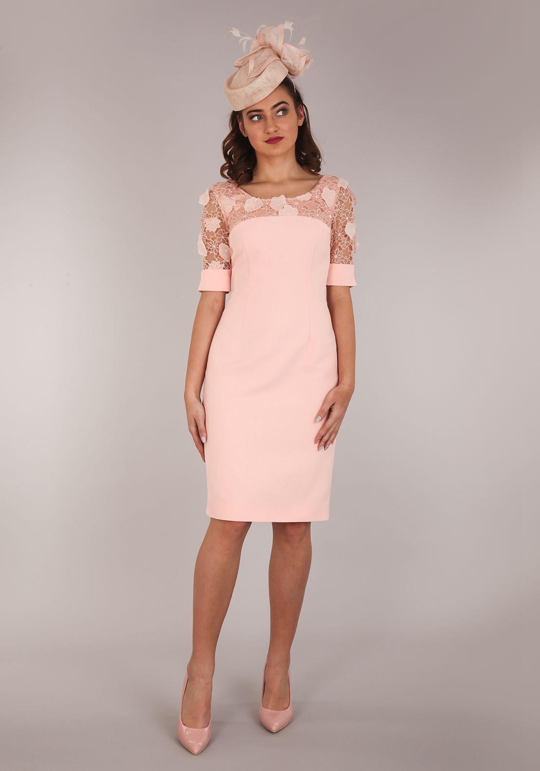 Aideen Bodkin Guava Pencil Dress, Apricot Pink | altinn | Pinterest ...