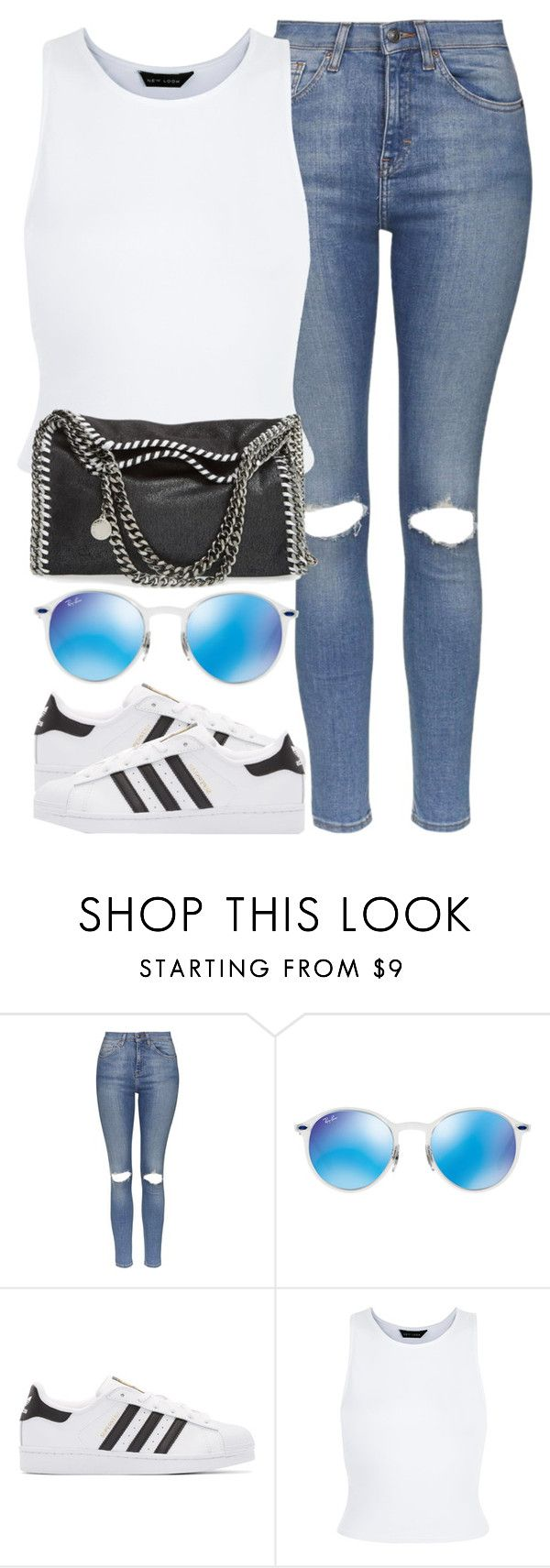 """""""OOTD - Kaiser Chiefs Gig"""" by elenaday on Polyvore featuring Topshop, Ray-Ban, adidas Originals, New Look and STELLA McCARTNEY"""