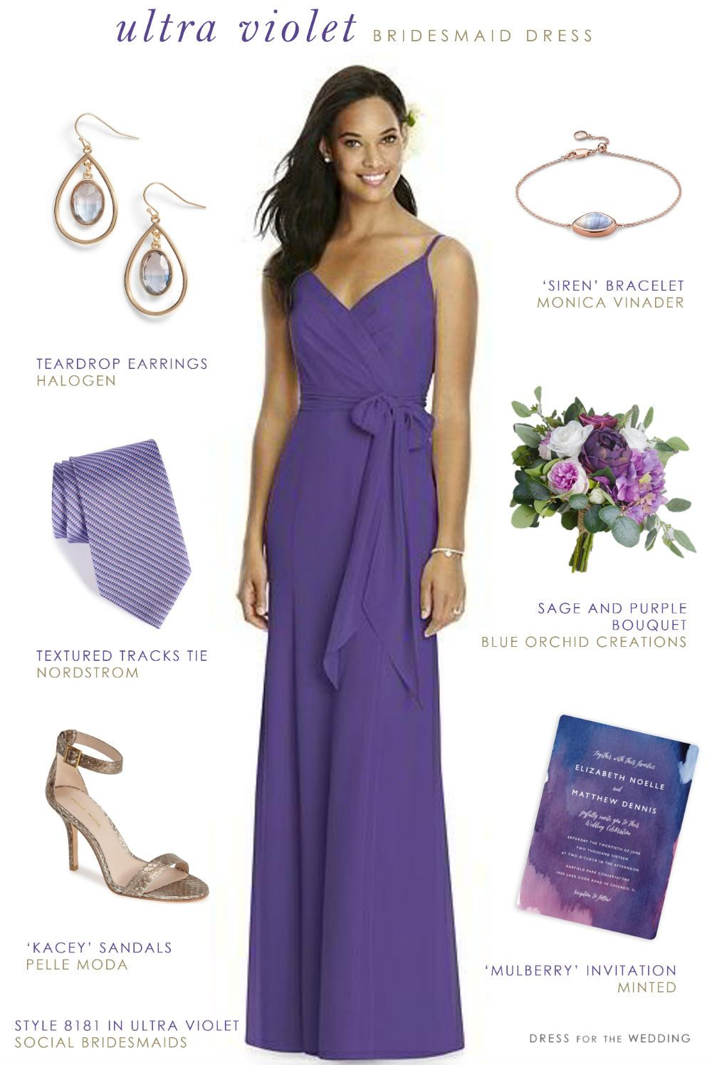 Ultra Violet Bridesmaid Dress | Boda