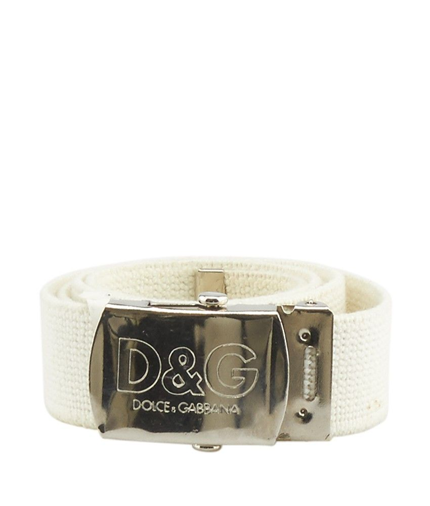 52ebc99076 ... low price dolce gabbana white canvas belt size m c8c1f d73c8