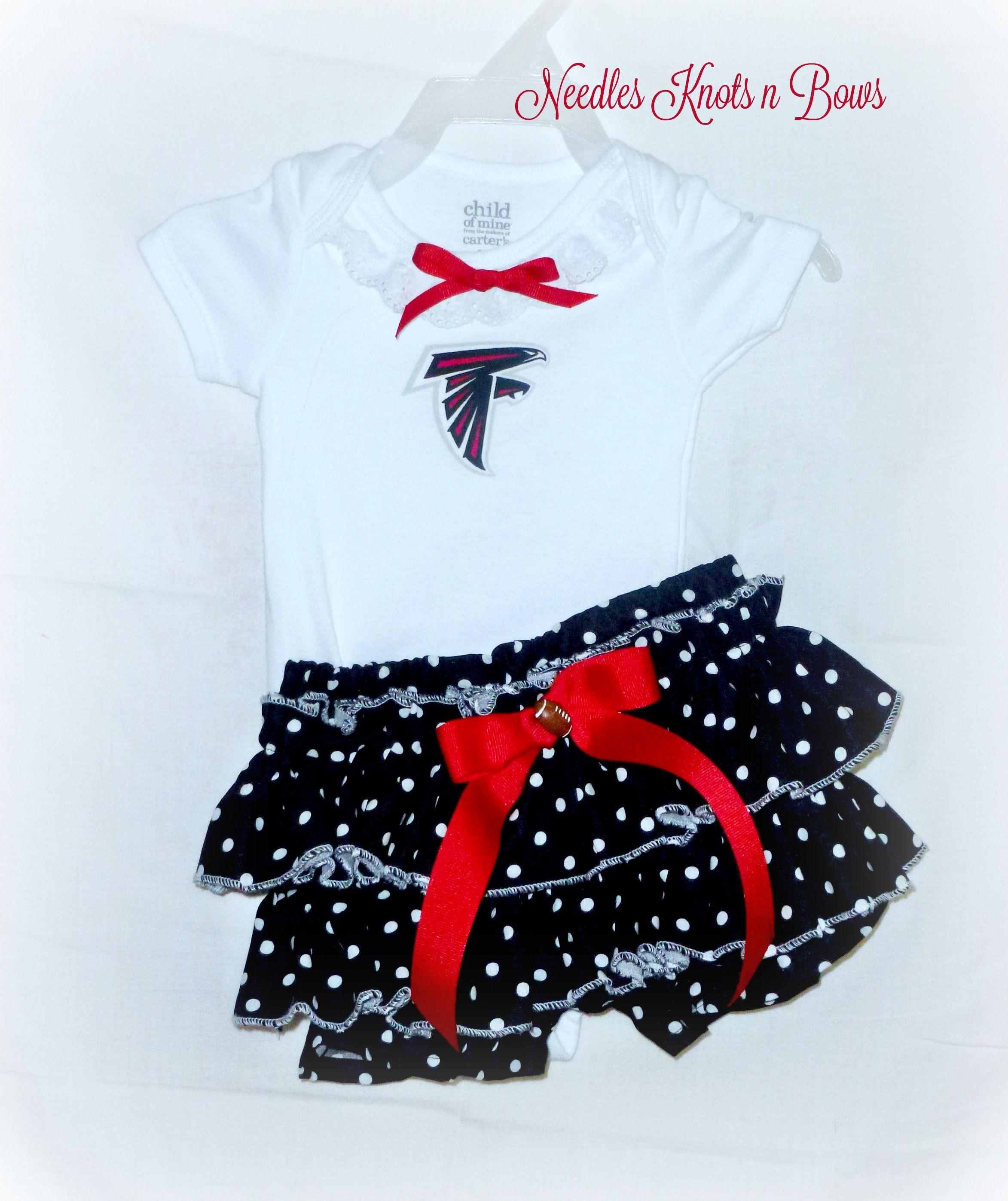 Girls Atlanta Falcons Cheerleader Outfit Baby Girls Falcons