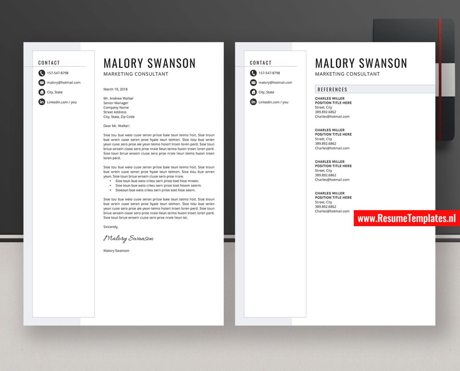 Simple Resume with Photo Two page Resume Curriculum Vitae for Word One page Resume Clean CV Design Resume for student