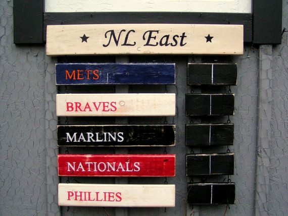 Mlb Nl East Baseball Standings Board I Have To Make Something Like
