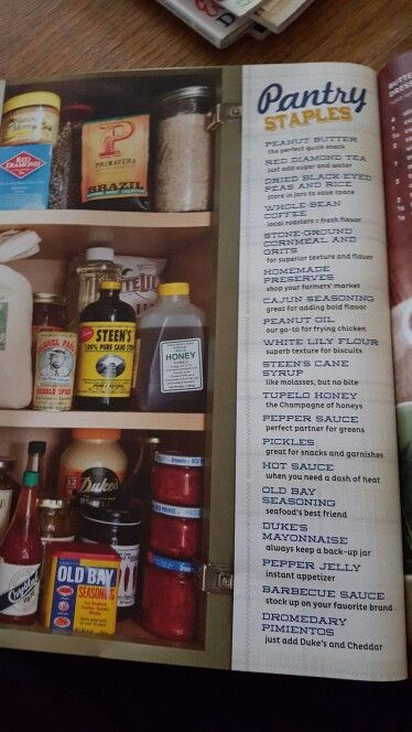 Southern kitchen staples list Taste of the south 11/13