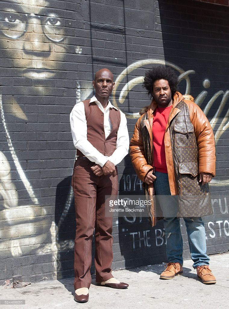 0991319165b2 Fashion icon Dapper Dan with his son Jelani who is wearing a Dapper Dan  coat in Harlem, New York City, 2014.