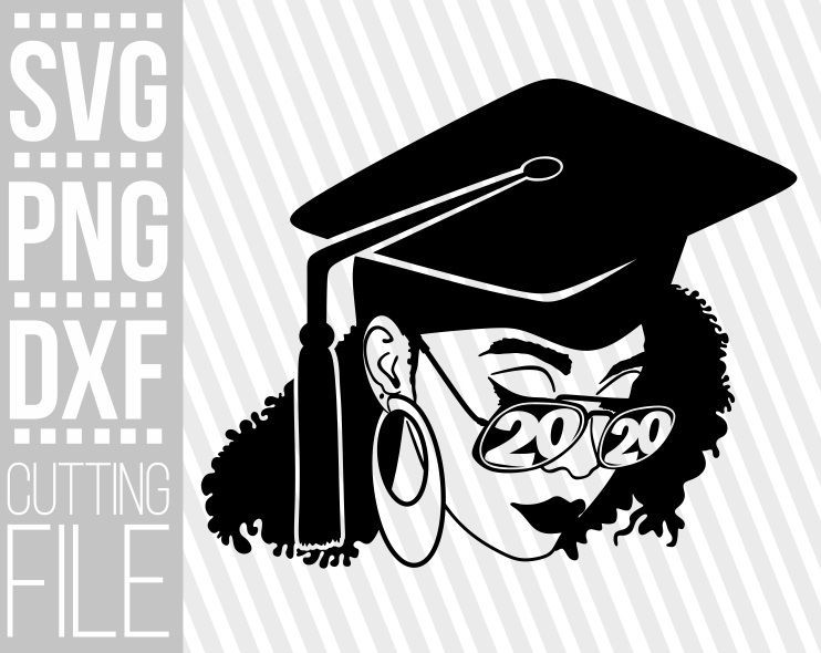 Graduation Woman svg, Black woman with Glasses, high