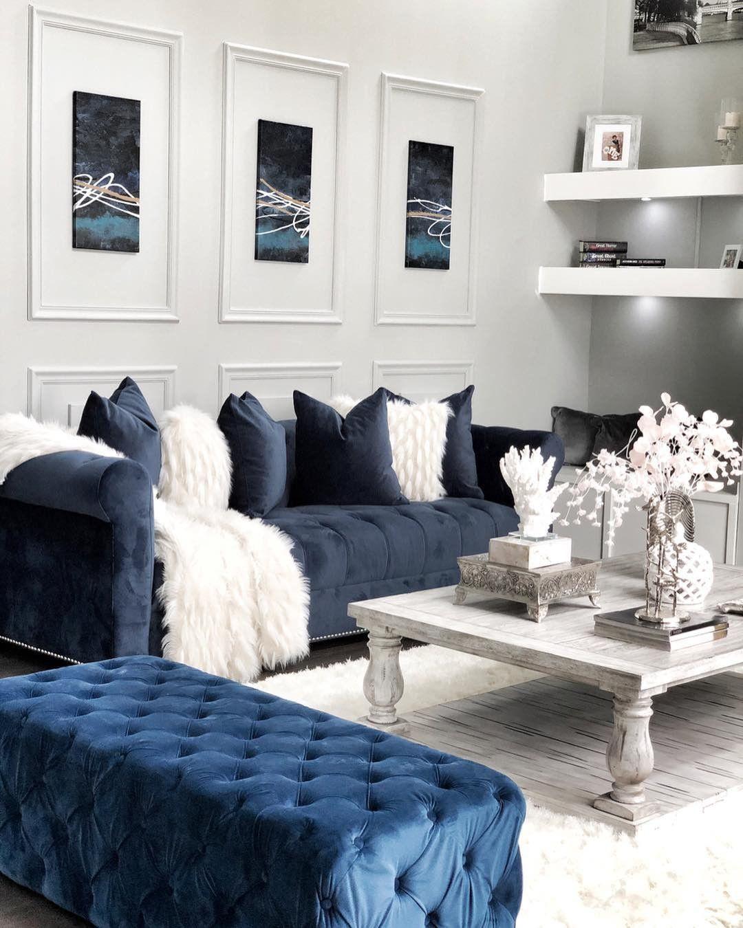 45+ The Confidential Secrets of Navy Blue Sofas Living Room Ideas - beterhome   Blue sofas
