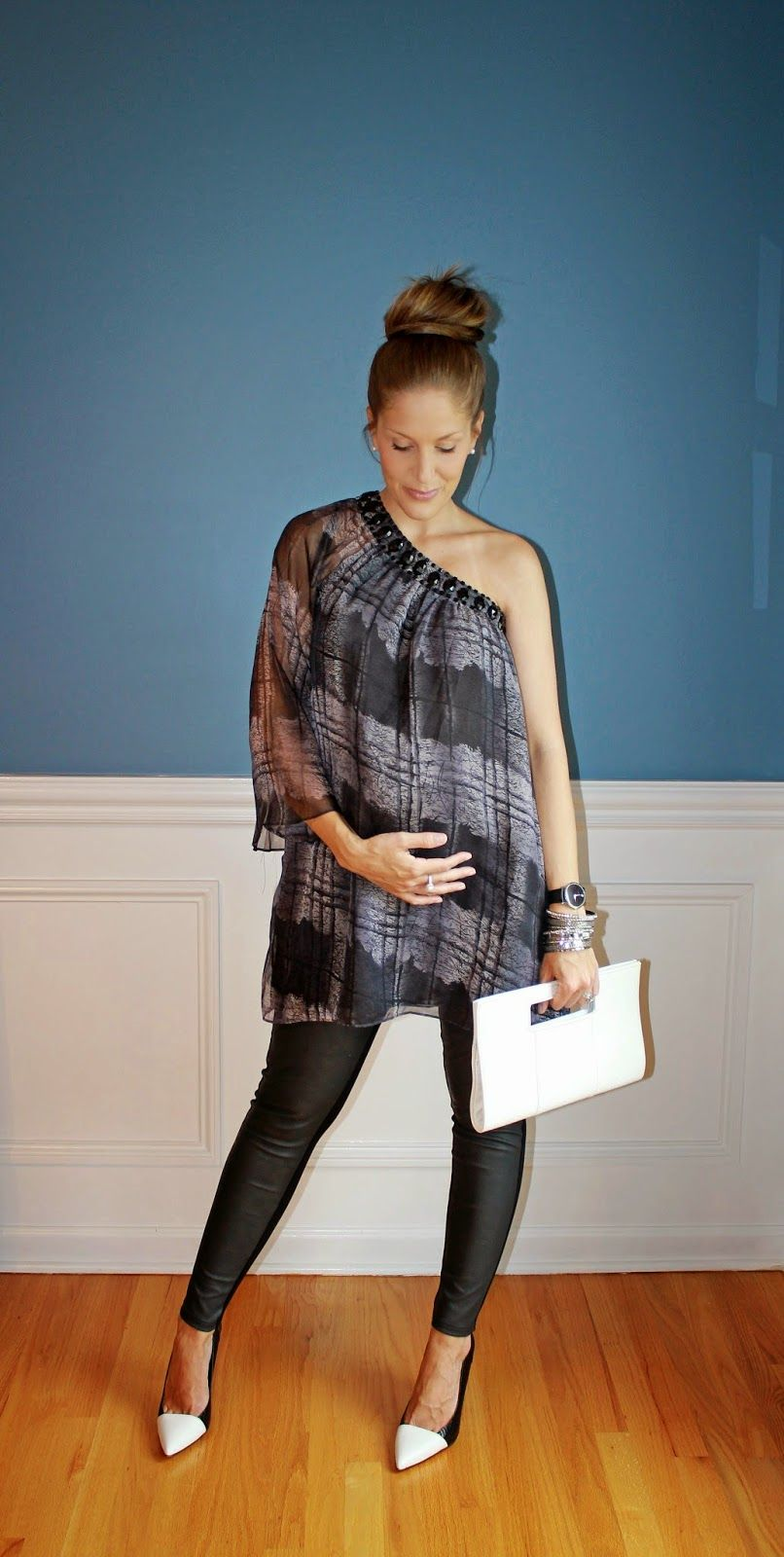 Outfitted411: July 2014 Maternity fashion black and white